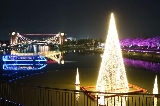 環水公園のライトアップ