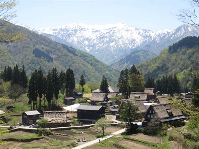五箇山合掌造り集落の全景