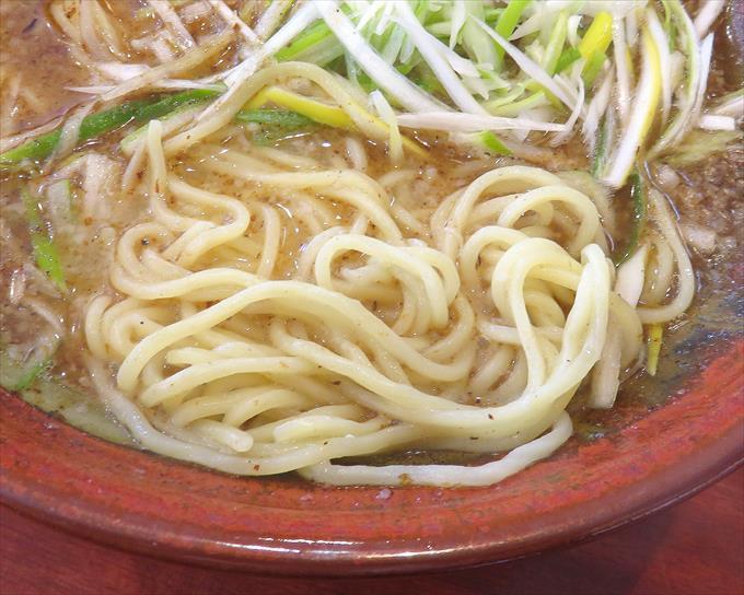 むてっぽう醤油ラーメンの太麺