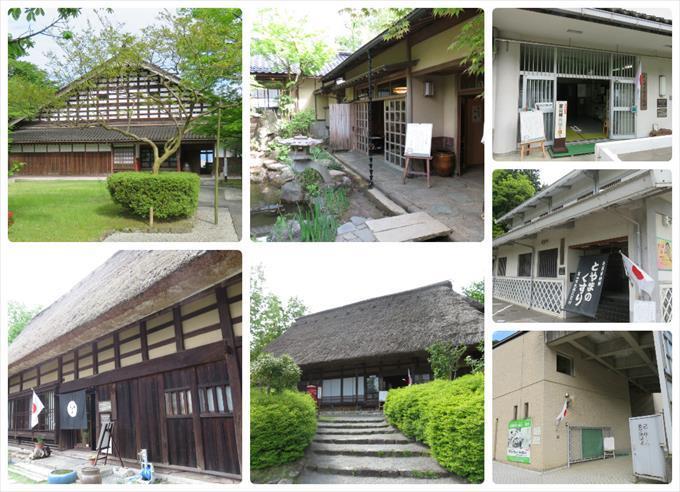 富山市民俗民芸村の建物一覧