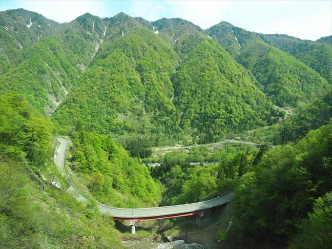 高原バスから見る風景