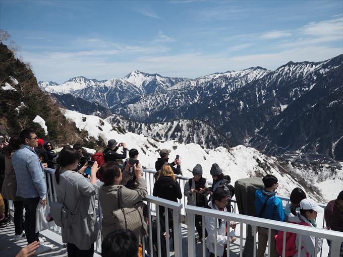 大観峰の観光客