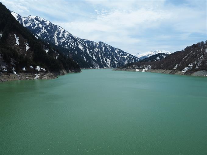 黒部湖全景