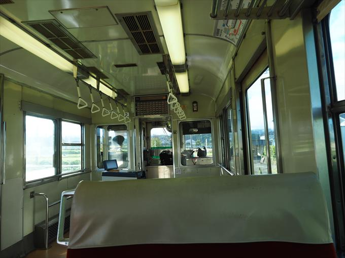 富山地方鉄道車内風景