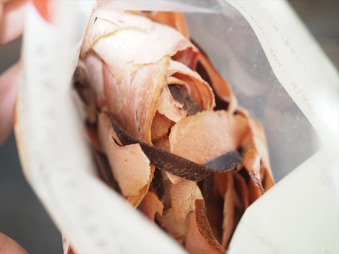 食べる削り節の袋の中