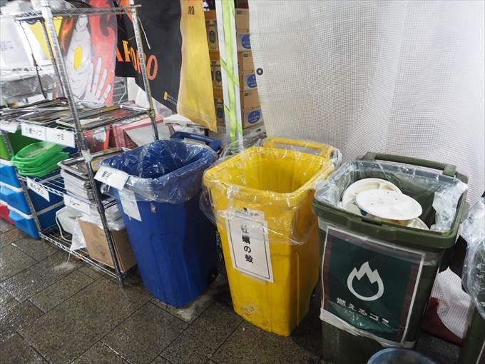 カキ小屋の備品片付けやゴミ捨て