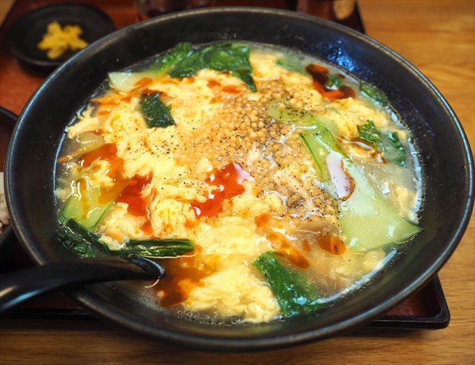 ゆず酸辣湯麺のアップ