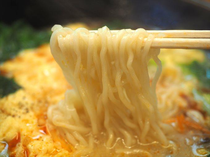 ゆず酸辣湯麺の麺リフト