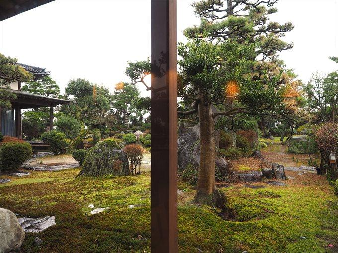 店舗から眺める庭園