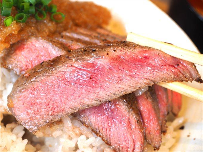 和牛ステーキのアップ