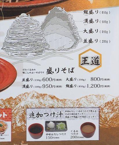 麺の量を選択