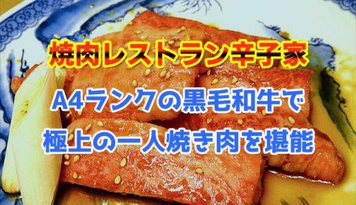 【辛子家】A4ランクの黒毛和牛で極上の一人焼き肉を堪能