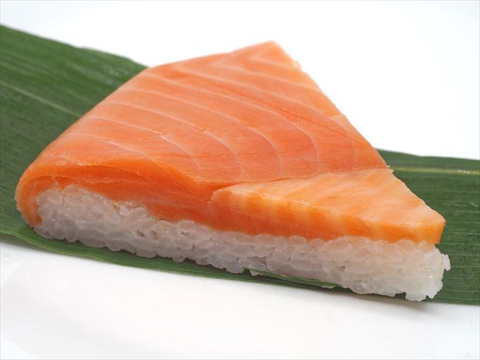 米久の鱒の寿しの一切れ